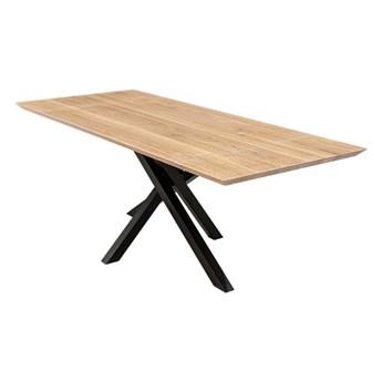 Stół Slant z dostawkami Dąb 140x80 cm Jedna dostawka 35 cm