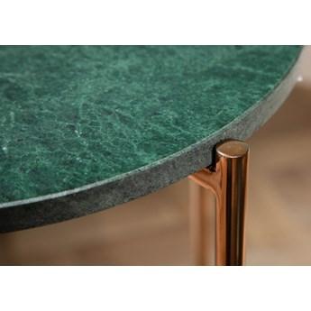 Stolik Noble I Ø32xH62 cm zielony marmur - nogi złote