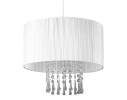 Wyjątkowa lampa wisząca glamour Wenecja biała z kryształkami