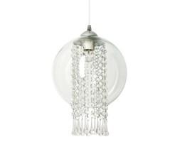 Elegancka lampa wisząca Globe Deluxe glamour kryształki szklany klosz