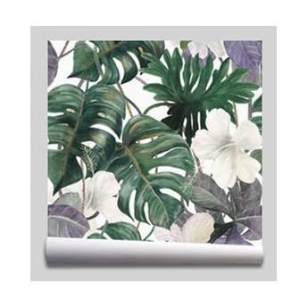 tapeta Akwarela tropikalna egzotyczna rośliny Liście palmowe Dżungla