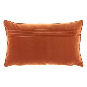 Poduszka Ruda dekoracyjna z aksamitu JULIA