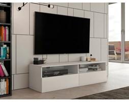 Biała szafka pod TV, stolik RTV z szufladami 140 cm