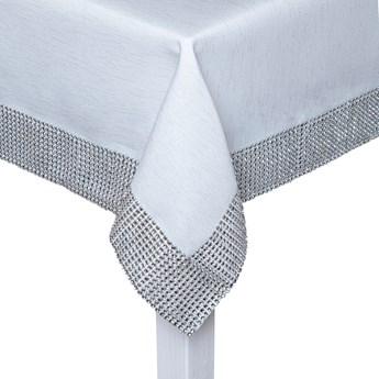 JEDEKA Margo 921 Silver 85 x 85 cm biały - obrus na stół poliestrowy