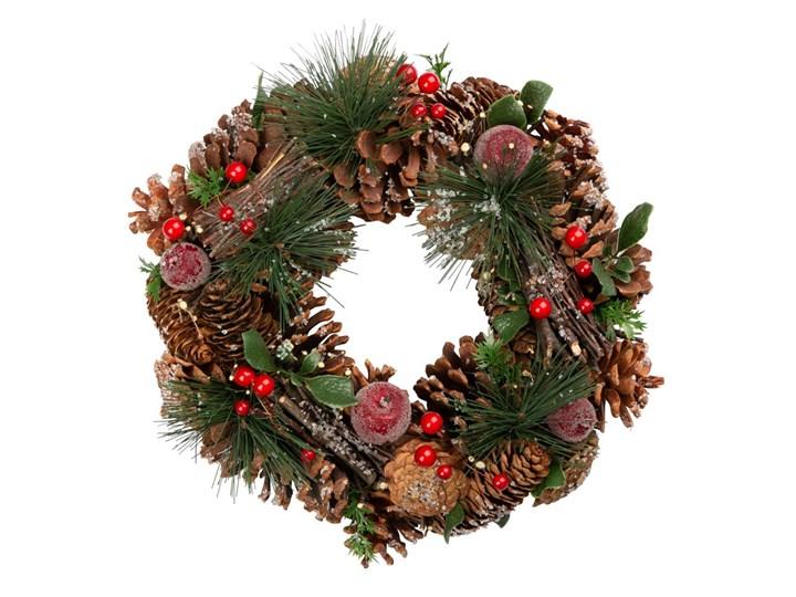 Wianek bożonarodzeniowy APPLES BRĄZOWY 30 cm