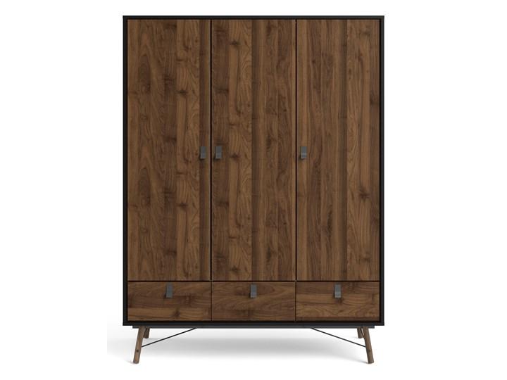 Nowoczesna szafa ubraniowa w kolorze czarnym Ryan 3D Wysokość 200 cm Styl Nowoczesny Szerokość 150 cm Kategoria Szafy do garderoby