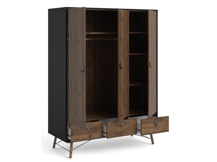 Nowoczesna szafa ubraniowa w kolorze czarnym Ryan 3D Szerokość 150 cm Kategoria Szafy do garderoby Wysokość 200 cm Styl Nowoczesny