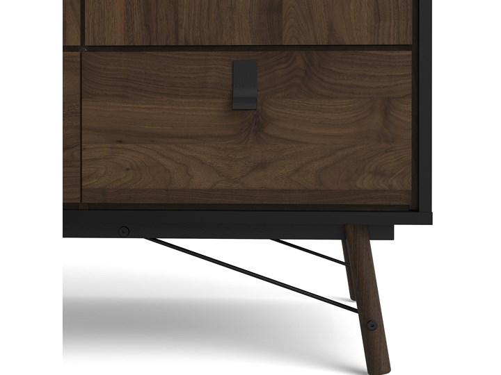 Nowoczesna szafa ubraniowa w kolorze czarnym Ryan 3D Szerokość 150 cm Wysokość 200 cm Kategoria Szafy do garderoby