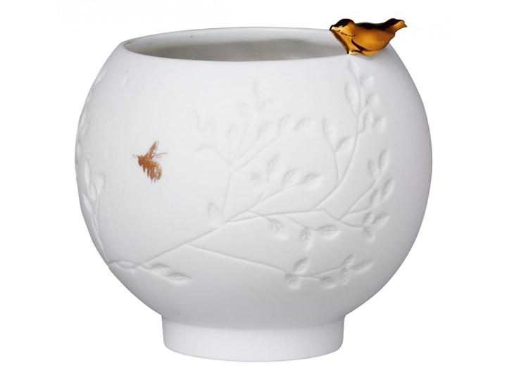 wielkanocne dodatki świecznik porcelanowy Złoty ptak 7cm RAEDER Ceramika Kolor Szary