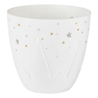 świecznik porcelanowy zimowy Gwiazdki 9cm RAEDER