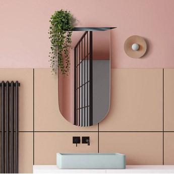 Lustro Arco –  półokrągłe z metalową półką