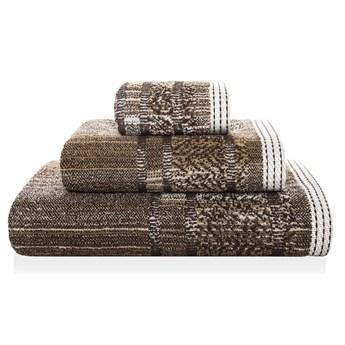 Ręcznik bawełniany Sorema Maze Dark Chocolate