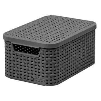 Koszyk CURVER Style Box S V2 + LID - DRG308 Ciemnoszary