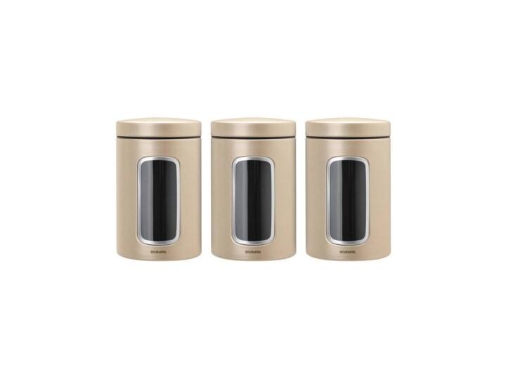 Zestaw pojemników BRABANTIA 304842 (3 sztuki) Stal Typ Zestawy Na żywność Kategoria Pojemniki i puszki